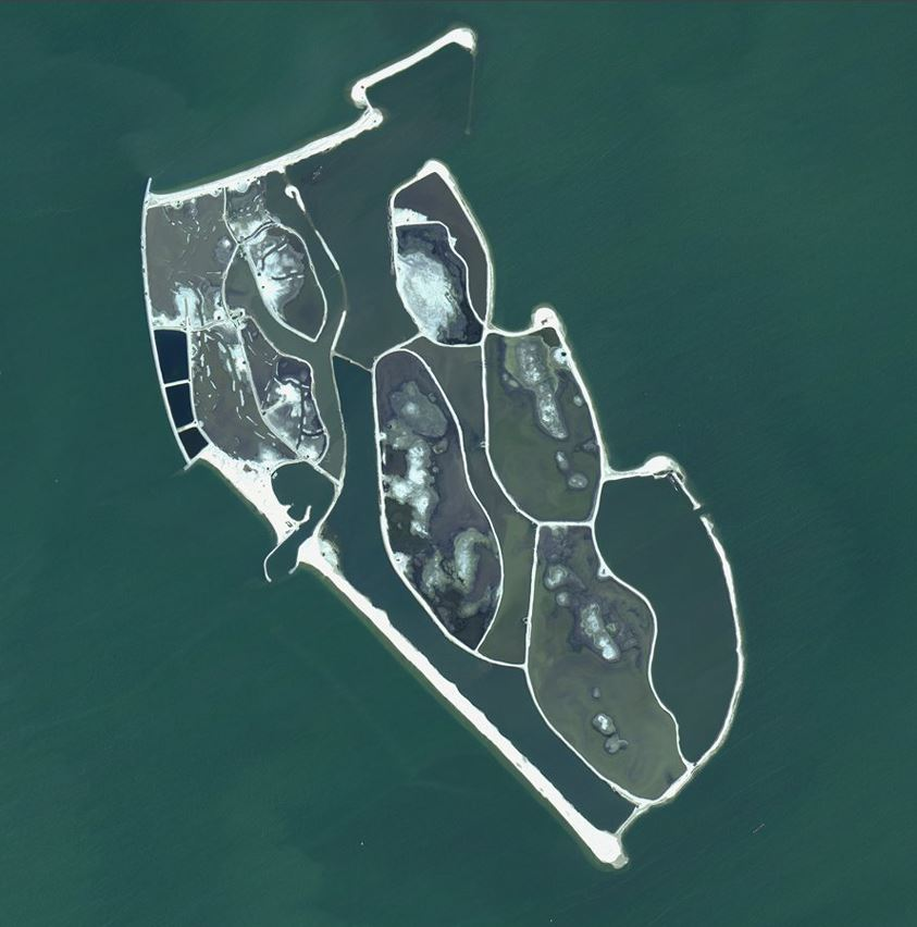 Satellite image of Marker Wadden (acquired on 30-Jun-2018)